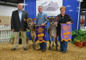 JUNIOR CHAMPION OF THE KENTUCKY NATIONAL JERSEY SHOW Lot 17 - KCJF Relentless Bomber | JUNIOR CHAMPION Lot 23 - DKG Grand Prix Patch | RESERVE JR. CHAMPION
