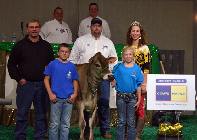 Third high selling POG lot was LOT 4 - KILGUS SAMPSON MARLA. Chase Bachelor, Angola, IN purchased the DP Valentino Sampson, 14JE576 daughter for $6,100 from Trent Kilgus, Fairbury, IL. The September 2013 heifer has a GJPI of +140 and is bred to calve in June with a BW Metalica-ET, 7JE1251 calf.