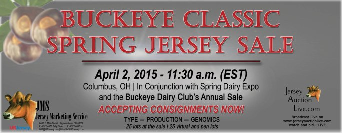 The Buckeye Dairy Club and JMS are working together this year to put on a sale with both live and virtual lots, focused on Type - Production - Genomics! This event will be held in conjunction with Spring Dairy Expo!