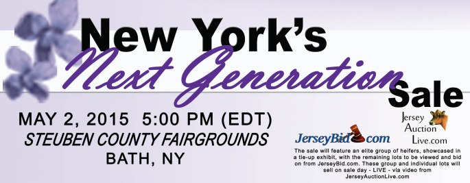 Also a combination sale, the New York Jersey Breeders and JMS invite you to consign your type and production individuals to this sale. A portion of the sale will be available for pre-bidding online, with a portion of live heifers in a tie-up format of the sale. Again, we are looking for all aspects of genetics, cow families - genomics - show type and production!