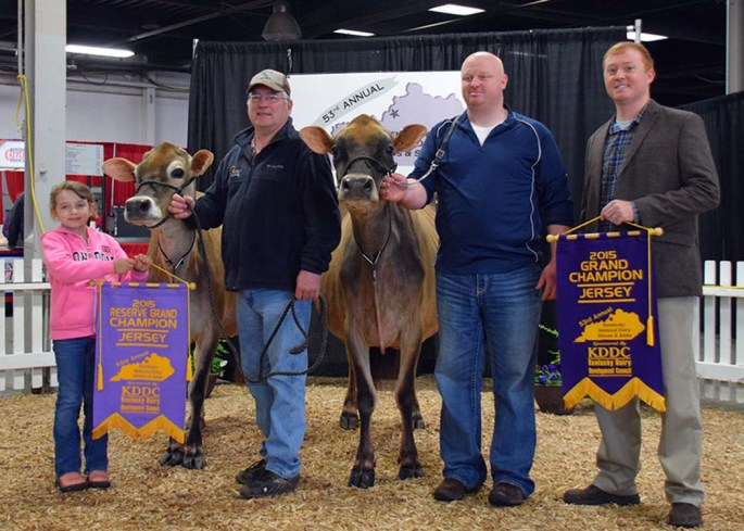 Grand Champion of the Kentucky National Jersey Show was Lot 44 from Brian Call, OH. Reserve was Lot 30, from Samantha Ropp, IL
