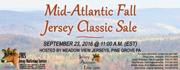 MID-ATLANTIC FALL JERSEY CLASSIC SALE - Click on banner for catalog!