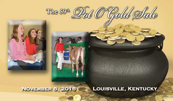 Pot O'Gold Sale, November 5, 2016 at 4:30 p.m. (EST). Click on picture for catalog.